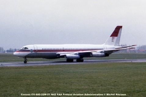 677 Convair CV-880-22M-21 N42 FAA Federal Aviation Administration © Michel Anciaux