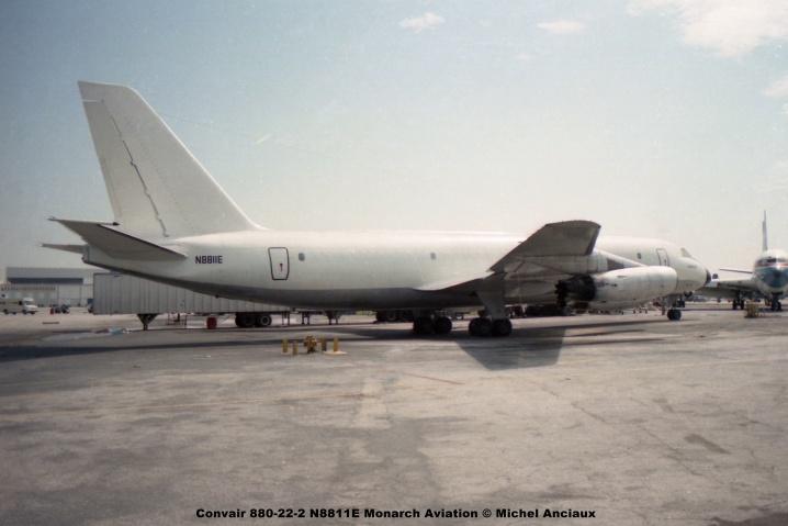 680 Convair 880-22-2 N8811E Monarch Aviation © Michel Anciaux