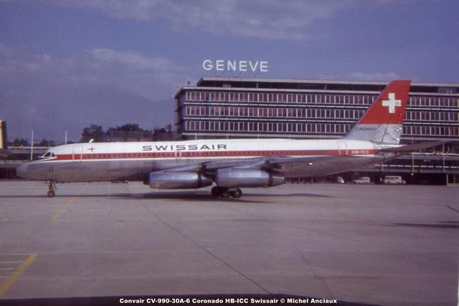 690 Convair CV-990-30A-6 Coronado HB-ICC Swissair © Michel Anciaux