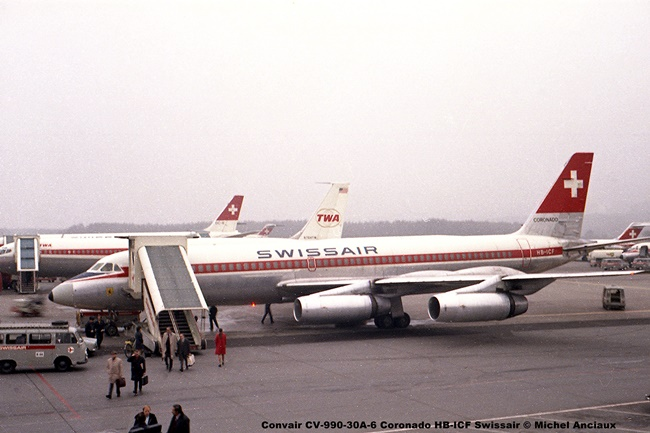 691 Convair CV-990-30A-6 Coronado HB-ICF Swissair © Michel Anciaux