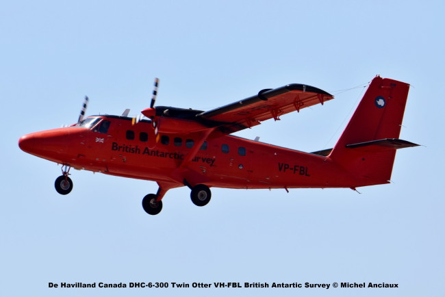 DSC_0205 De Havilland Canada DHC-6-300 Twin Otter VH-FBL British Antartic Survey © Michel Anciaux