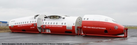 DSC_7374 British Aerospace 146-200 ex OO-DJE Brussels Airport Fire & Rescue © Hubert Creutzer
