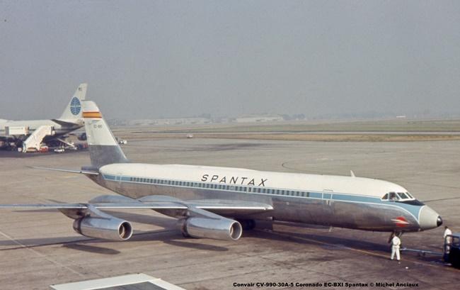 img517 Convair CV-990-30A-5 Coronado EC-BXI Spantax © Michel Anciaux