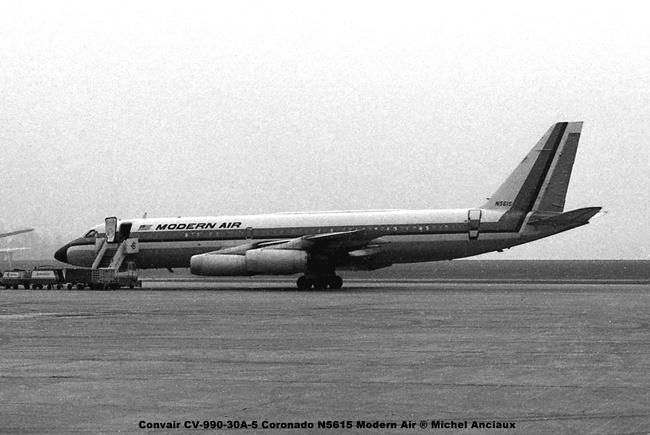 img532 Convair CV-990-30A-5 Coronado N5615 Modern Air ® Michel Anciaux