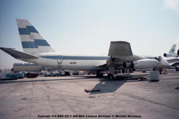 img540 Convair CV-880-22-1 AN-BIA Lanica Airlines © Michel Anciaux