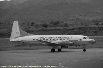 img715 Convair CV-580 HR-SAX Servicio AereoHonduras S.A. © Michel Anciaux