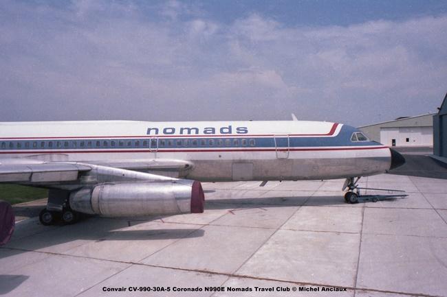 img722 Convair CV-990-30A-5 Coronado N990E Nomads Travel Club © Michel Anciaux