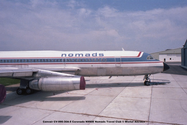 img722 Convair CV-990-30A-5 Coronado N990E Nomads Travel Club © Michel Anciaux