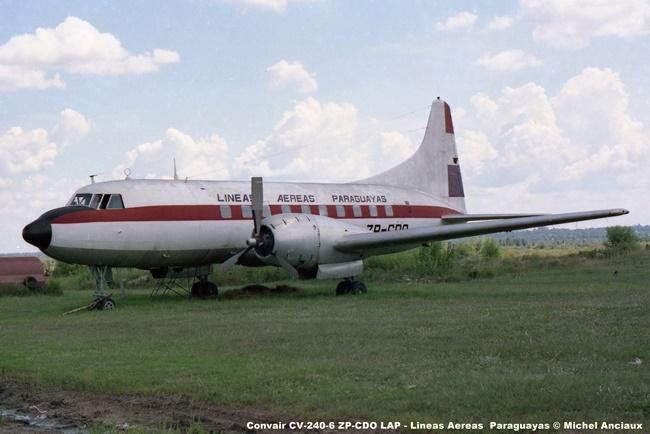img742 Convair CV-240-6 ZP-CDO LAP - Lineas Aereas Paraguayas © Michel Anciaux