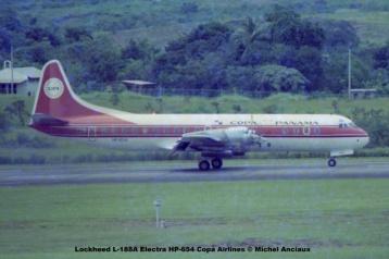 007 Lockheed L-188A Electra HP-654 Copa Airlines © Michel Anciaux