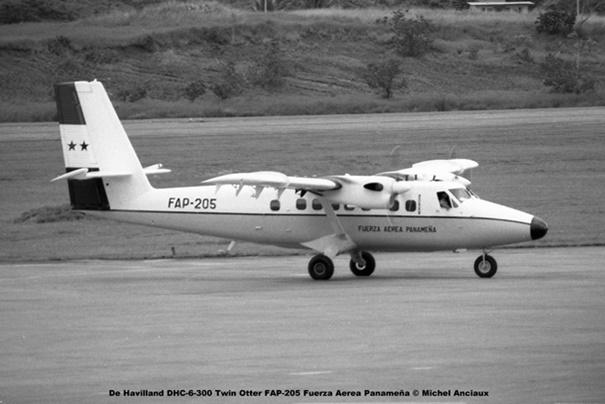 014 De Havilland DHC-6-300 Twin Otter FAP-205 Fuerza Aerea Panamena © Michel Anciaux