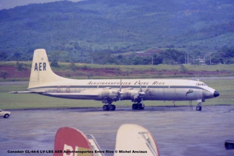 015 Canadair CL-44-6 LV-LBS AER Aerotransportes Entre Rios © Michel Anciaux