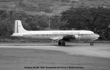 021 Douglas DC-6B ''926'' Guatemala Air Force © Michel Anciaux