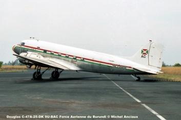img438 Douglas C-47A-25-DK 9U-BAC Force Aerienne du Burundi © Michel Anciaux