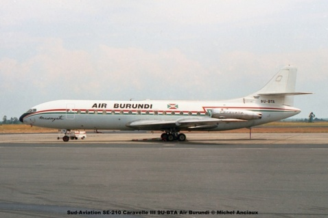img448 Sud-Aviation SE-210 Caravelle III 9U-BTA Air Burundi © Michel Anciaux
