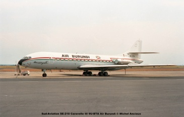 img449 Sud-Aviation SE-210 Caravelle III 9U-BTA Air Burundi © Michel Anciaux