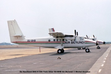 img456 De Havilland DHC-6-300 Twin Otter 9U-BHB Air Burundi © Michel Anciaux