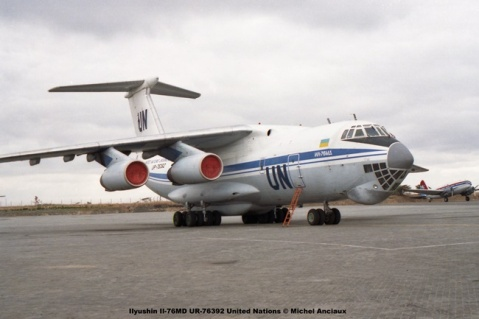18 Ilyushin Il-76MD UR-76392 United Nations © Michel Anciaux
