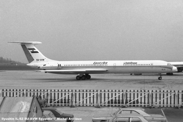 img079 Ilyushin IL-62 SU-AVW EgyptAir © Michel Anciaux