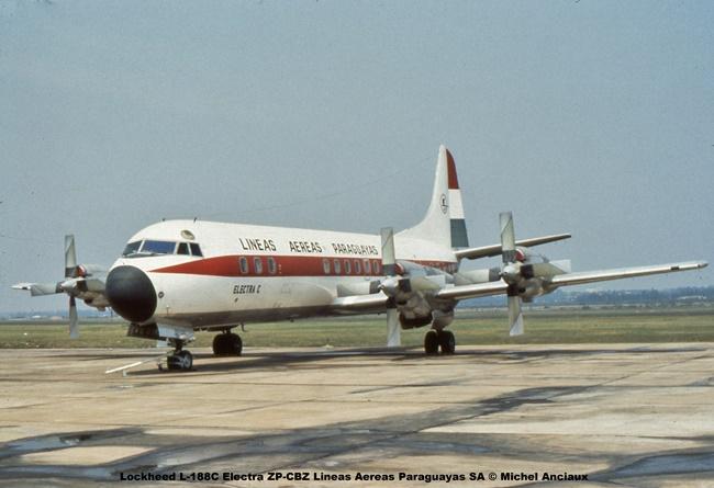 img1333 Lockheed L-188C Electra ZP-CBZ Lineas Aereas Paraguayas SA © Michel Anciaux