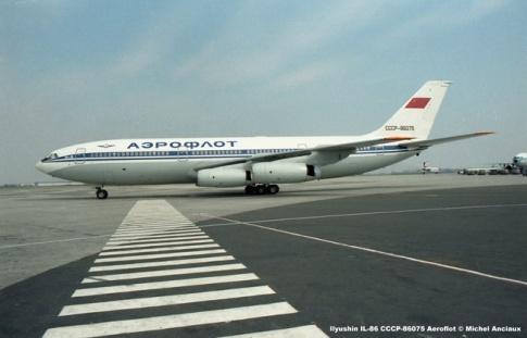 img189 Ilyushin IL-86 CCCP-86075 Aeroflot © Michel Anciaux