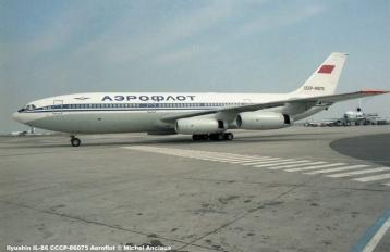 img191 Ilyushin IL-86 CCCP-86075 Aeroflot © Michel Anciaux
