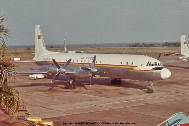 img324 Ilyushin IL-18D 3X-GAT Air Guinee © Michel Anciaux