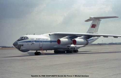 img506 Ilyushin IL-76M CCCP-86875 Soviet Air Force © Michel Anciaux