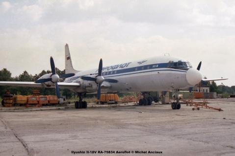 img714 Ilyushin Il-18V RA-75834 Aeroflot © Michel Anciaux