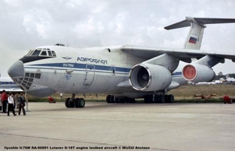 img744 Ilyushin Il-76M RA-86891 Lotarev D-18T engine testbed aircraft © Michel Anciaux
