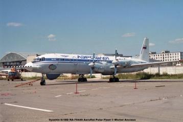 img801 Ilyushin IL-18D RA-75442 Government Research Institute of Civil Aviation © Michel Anciaux
