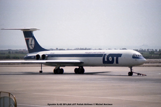 img837 Ilyushin IL-62 SP-LAA LOT Polish Airlines © Michel Anciaux