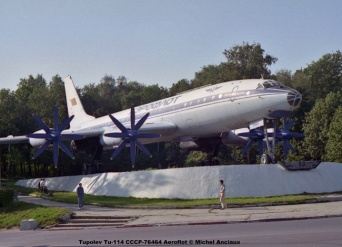 img913 Tupolev Tu-114 CCCP-76464 Aeroflot © Michel Anciaux