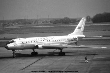 img922 Tupolev Tu-104B CCCP-42507 Aeroflot © Michel Anciaux