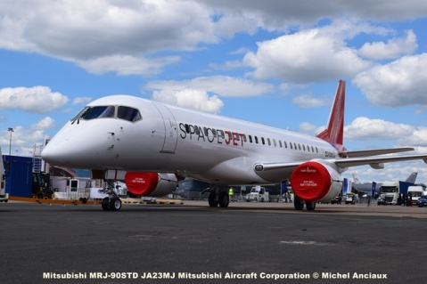DSC_0038 Mitsubishi MRJ-90STD JA23MJ Mitsubishi Aircraft Corporation © Michel Anciaux