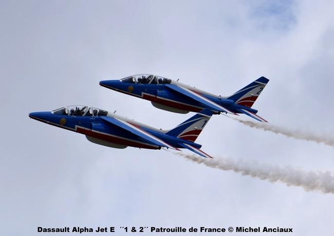 DSC_0198 Dassault Alpha Jet E ´´1 & 2´´ Patrouille de France © Michel Anciaux