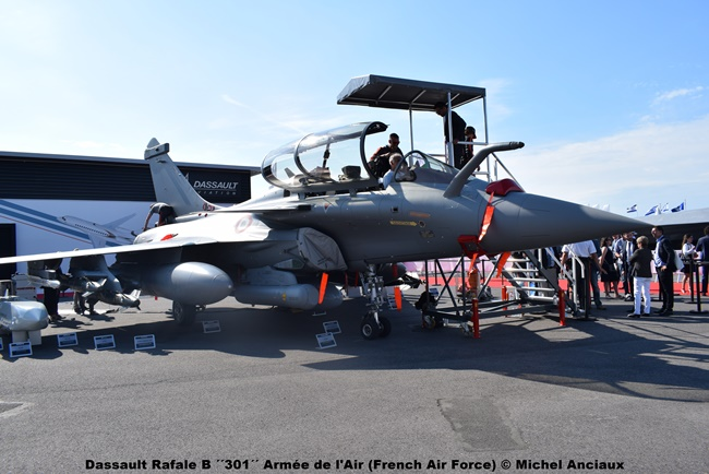 DSC_0306 Dassault Rafale B ´´301´´ Armée de l'Air (French Air Force) © Michel Anciaux