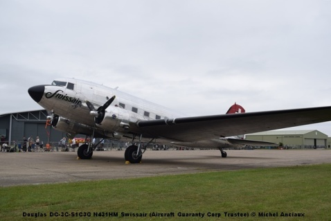 DSC_0042 Douglas DC-3C-S1C3G N431HM Swissair (Aircraft Guaranty Corp Trustee) © Michel Anciaux