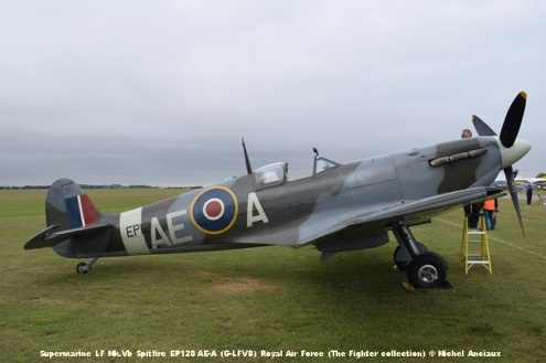 DSC_0120 Supermarine LF Mk.Vb Spitfire EP120 AE-A (G-LFVB) Royal Air Force (The Fighter collection) © Michel Anciaux