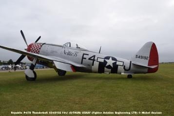 DSC_0194 Republic P-47D Thunderbolt 45-49192 F4-J (G-THUN) USAAF (Fighter Aviation Engineering LTD) © Michel Anciaux