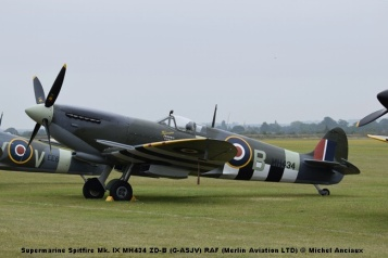 DSC_0428 Supermarine Spitfire Mk. IX MH434 ZD-B (G-ASJV) RAF (Merlin Aviation LTD) © Michel Anciaux