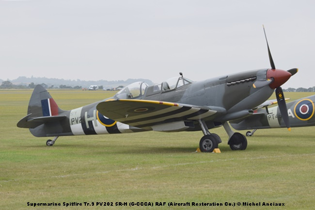 DSC_0456 Supermarine Spitfire Tr.9 PV202 5R-H (G-CCCA) RAF (Aircraft Restoration Co.) © Michel Anciaux