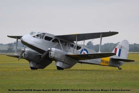DSC_0504 De Havilland DH89A Dragon Rapide HG691 (G-BEDF) Royal Air Force (Classic Wings) © Michel Anciaux