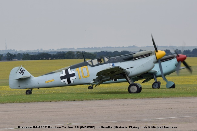DSC_1249 Hispano HA-1112 Buchón Yellow 10 (G-BWUE) Luftwaffe (Historic Flying Ltd) © Michel Anciaux