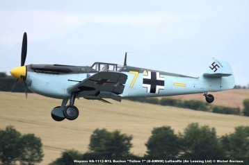 DSC_1270 Hispano HA-1112-M1L Buchon ''Yellow 7'' (G-AWHM) Luftwaffe (Air Leasing Ltd) © Michel Anciaux