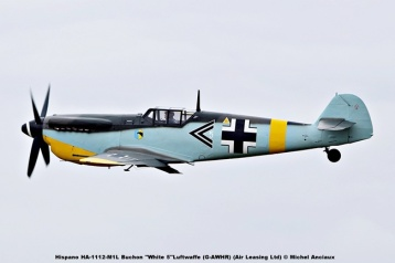 DSC_1279 Hispano HA-1112-M1L Buchon ''White 5''Luftwaffe (G-AWHR) (Air Leasing Ltd) © Michel Anciaux