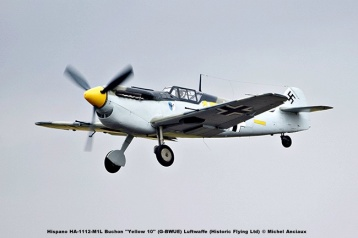DSC_1291 Hispano HA-1112-M1L Buchon ''Yellow 10'' (G-BWUE) Luftwaffe (Historic Flying Ltd) © Michel Anciaux