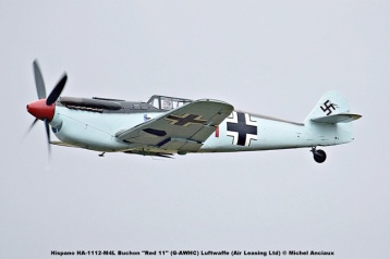 DSC_1310 Hispano HA-1112-M4L Buchon ''Red 11'' (G-AWHC) Luftwaffe (Air Leasing Ltd) © Michel Anciaux