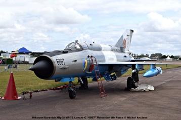 DSC_1498 Mikoyan-Gurevich Mig-21MF-75 Lancer C ''6807'' Romanian Air Force © Michel Anciaux