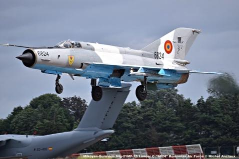 DSC_1649 Mikoyan-Gurevich Mig-21MF-75 Lancer C ''6824'' Romanian Air Force © Michel Anciaux